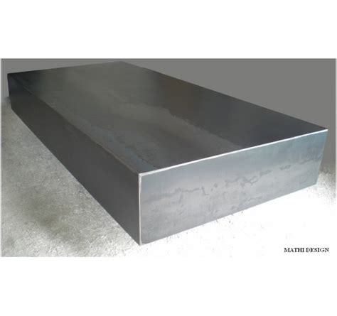 table basse salon rectangulaire table design en acier