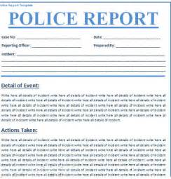 police report template free free business template