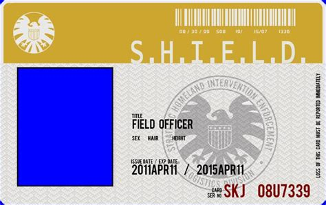 of shield id card template marvel shield badge template www imgkid the image