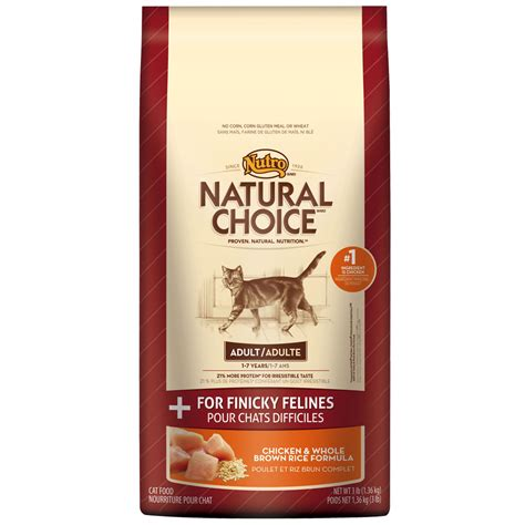 nutro choice food nutro choice chicken whole brown rice finicky cat 3 lb