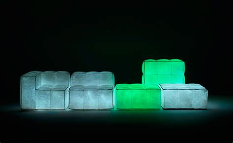 Filled With Air Its The Ozone Chair by Via Lattea Glowing Air Filled Furniture