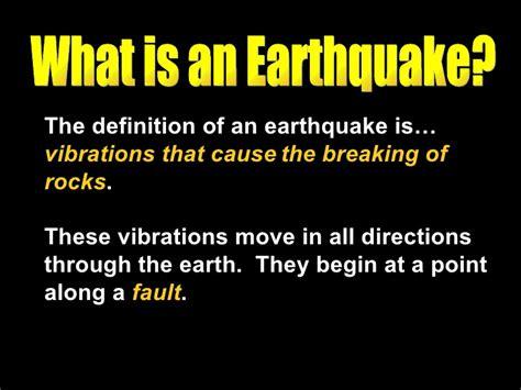 earthquake meaning earthquake notes summary