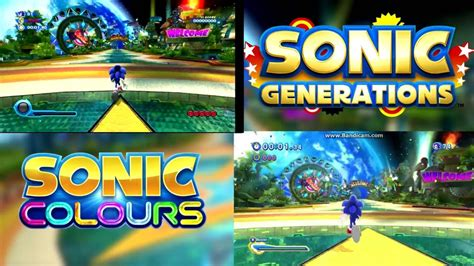 sonic colors wii tropical resort sonic colours wii vs sonic generations