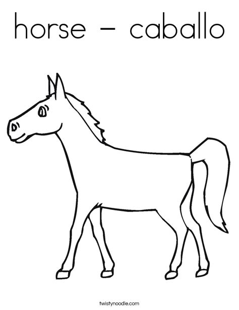 black and white coloring pages of horses horse caballo coloring page twisty noodle