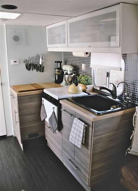 tiny kitchen remodel the reveal of our rv kitchen renovation 27 amazing rv travel trailer remodels you need to see