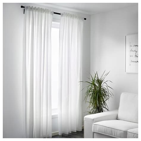 white window drapes vivan curtains 1 pair white 145x250 cm ikea