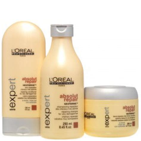 Shoo Loreal Expert l or 233 al professionnel s 233 rie expert absolut repair pack 3 products free shipping lookfantastic