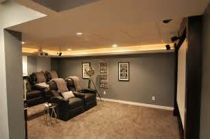 Elegant basement home theater keeps things simple design plan 2