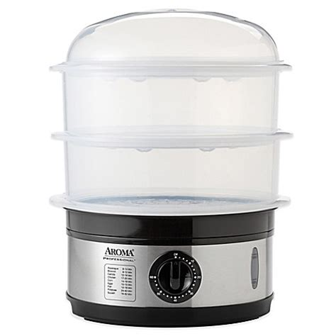 bed bath and beyond food steamer aroma 174 professional 9 qt food steamer bedbathandbeyond com