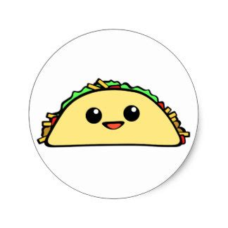 imagenes kawaii de tacos kawaii stickers zazzle