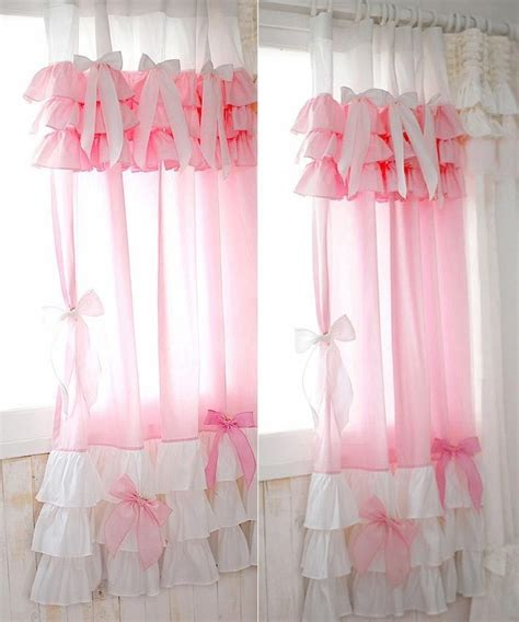 Pink Ruffle Curtains Best 25 Ruffle Curtains Ideas On Pinterest Ruffled Curtains Curtains For Room And