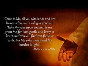 matthew 11 28 30 for the of god