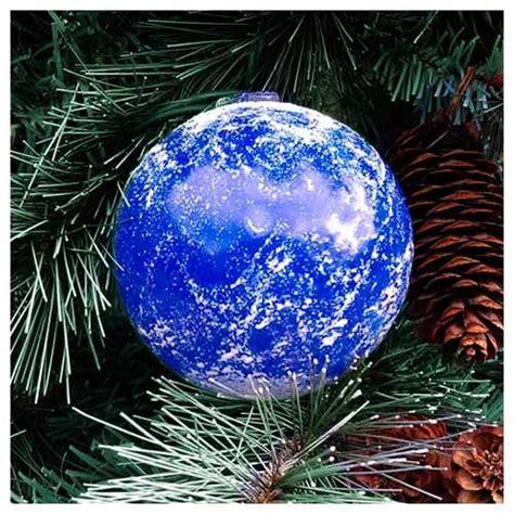 blown glass solar system christmas ornaments