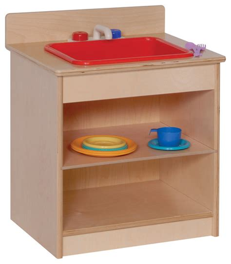 Steffywood Home Classroom Preschool Toddler Pretend Play Kitchen Sink Play