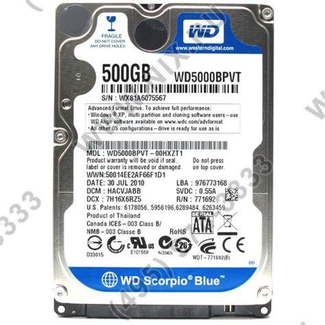 Hardisk Wd Scorpio Blue 500gb western digital scorpio blue wd5000bpvt 500