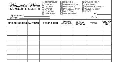 departamento de compra formatos de requisici 243 n y orden de requisicion de papeleria catas a domicilio en barranquilla