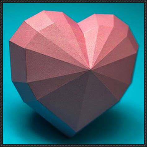 Paper Craft Hearts - papercraftsquare new paper craft shape free