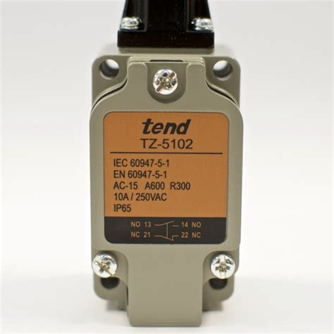 to tend tend tz 5102 vertical limit switch roller plunger 10a