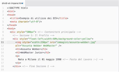 testo in html guida html il tuo cv in html e altre meraviglie corsidia