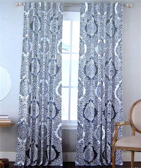 white and blue drapes com envogue window curtains paisley damask