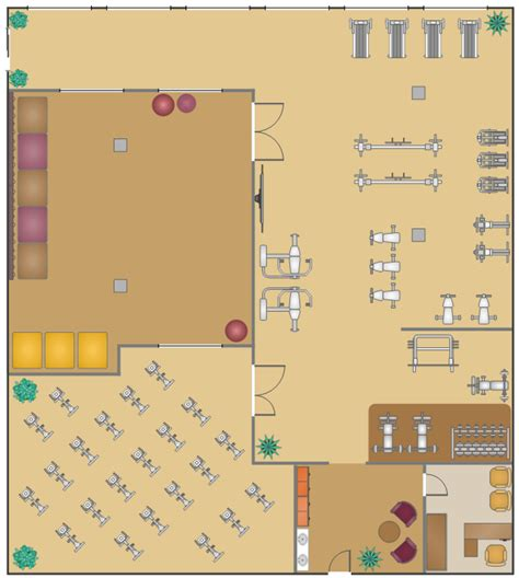 gym layout exles fitness center floor plan gym and spa area plans gym