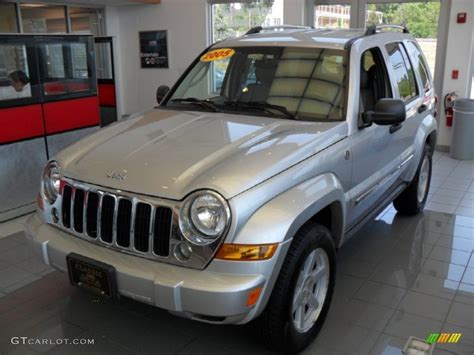 jeep liberty silver inside 2005 bright silver metallic jeep liberty limited 4x4