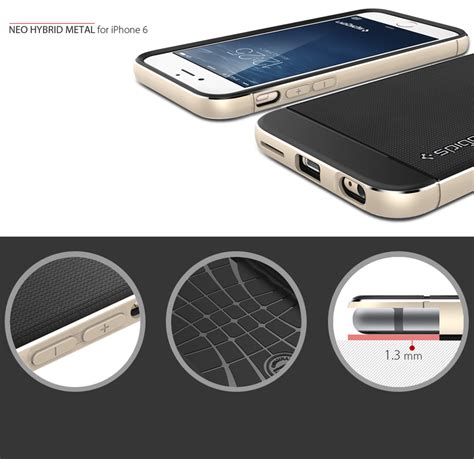 Spigen Metal For Iphone 5 6 6 spigen neo hybrid metal for iphone 6 6 plus