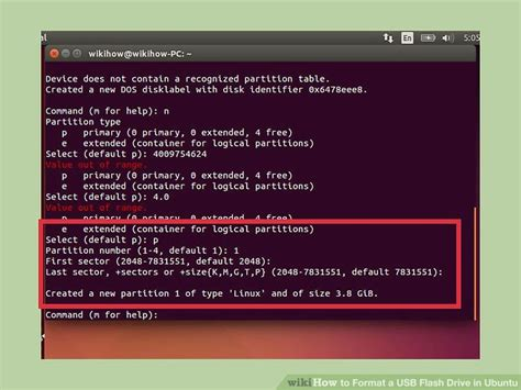 format flash disk in ubuntu how to format a usb flash drive in ubuntu with pictures