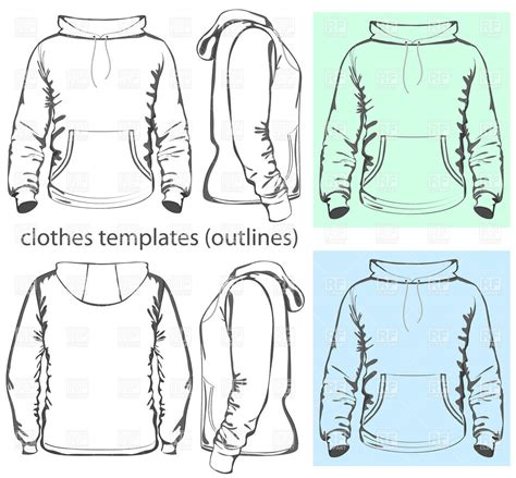 women s hooded sweatshirt with pocket template vector men s hooded sweatshirt template with pocket on belly