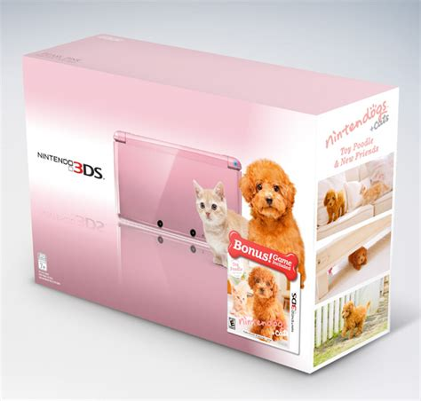 nintendo dogs nintendo outs new pink 3ds bundles it s raining cats and dogs technabob