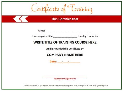 free templates for training certificates training certificate from word templates online