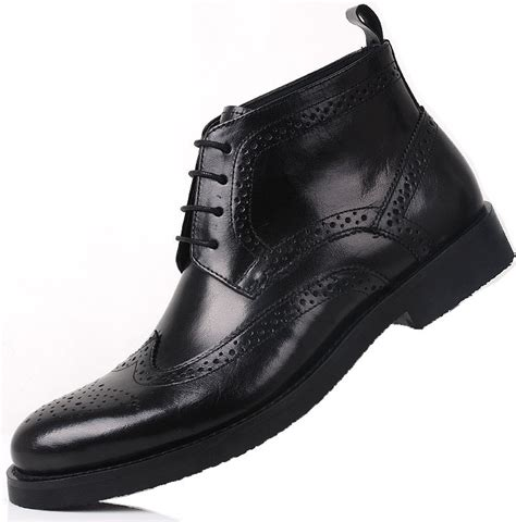 comfortable dress boots for men slangwell luxurious men lace up mens dress boots high