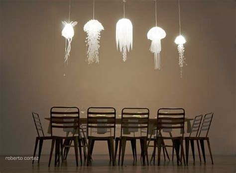 unique lighting fixtures inspired by jellyfish from
