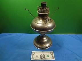 Kerosene L Vintage 1905 Nickel Plated Wick Rayco Kerosene L
