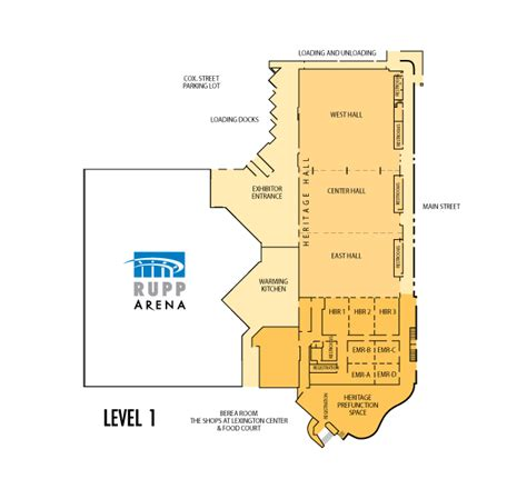 rupp arena floor plan center floor plans