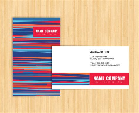 21 free name card template word excel formats