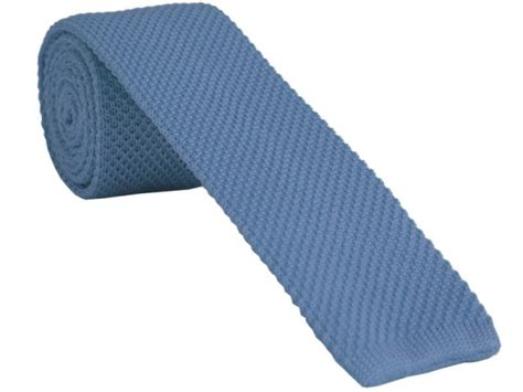 light blue wool tie light blue knitted tie with free and fast uk delivery