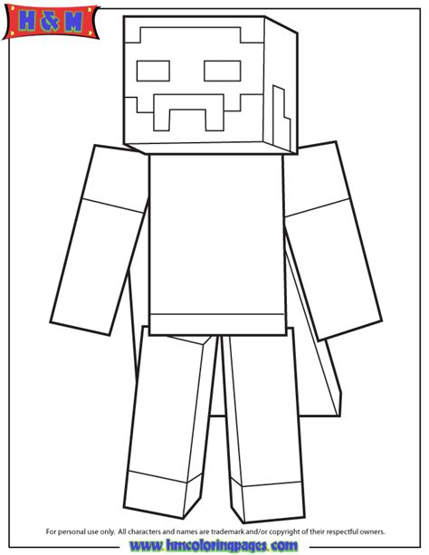 minecraft player  cape coloring page   coloring
