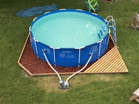 landscaping  base  intex ultra frame pools page