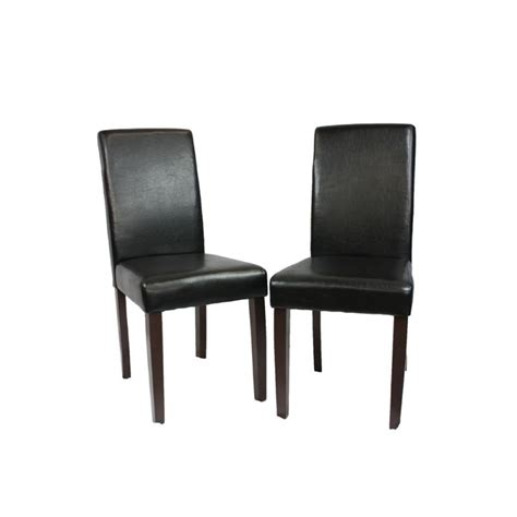 black leather dining room chairs 2 black faux leather high back dining room chairs buy