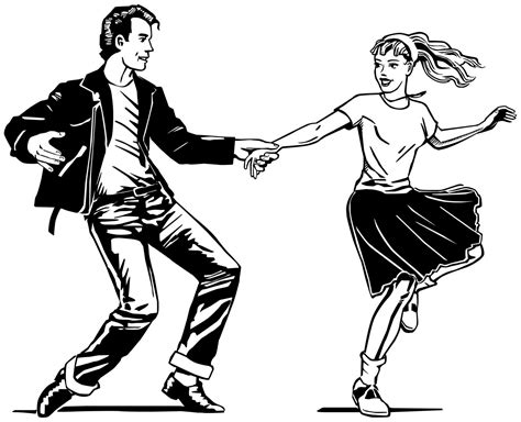 swing dance clip art fifties coloring pages coloring pages
