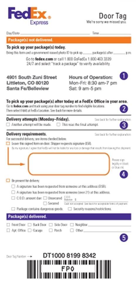 Fedex Door Tag Print by Fedex Up