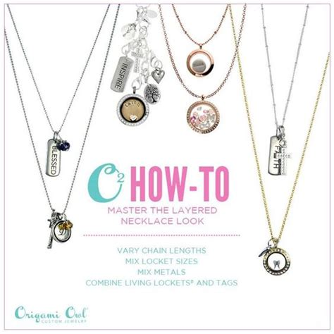 Origami Owl Chain Lengths - origami layered necklace and owl on