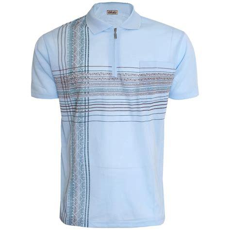 Polo Zipper mens polo shirt aztec print sleeve top zip zipper golf casual m l xl ebay