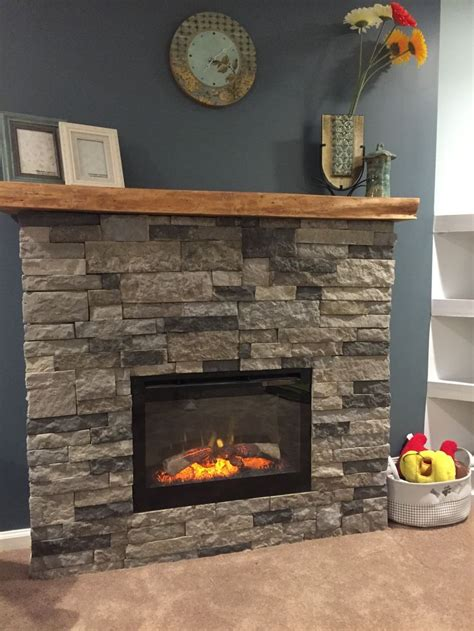 So much fun!! DIY airstone electric fireplace, ambroise