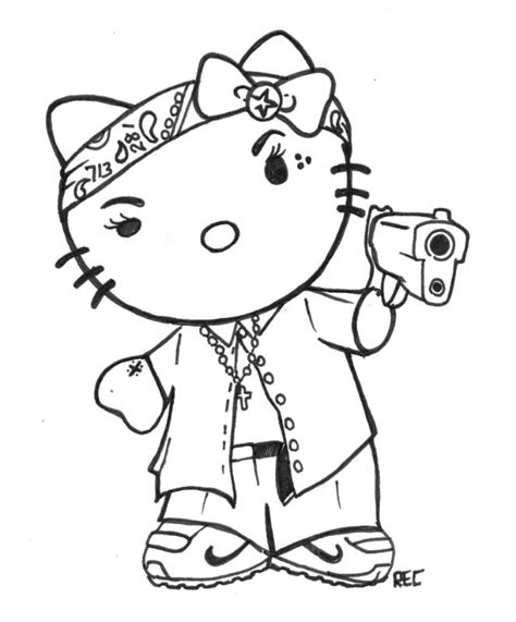 descarga e imprime estos stencils de hello kitty de forma