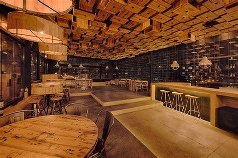 wooden decor for restaurant 187 el fabuloso bar by mema architects bogota colombia