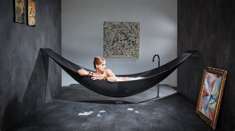 This Insane Carbon Fiber Hammock Bathtub Is The Epitome Of