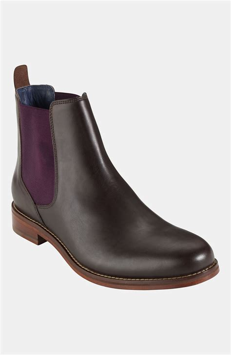 cole haan air harrison chelsea boot in brown for