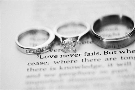 Bible Verses During Wedding by Rings And A Bible Verse Wedding